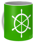 Helm In White And Green Coffee Mug