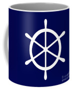 Helm In White And Navy Blue Coffee Mug