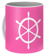 Helm In White And Pink Coffee Mug