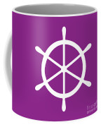 Helm In White And Purple Coffee Mug