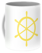 Helm In Yellow And White Coffee Mug