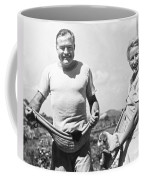 Hemingway, Wife And Pets Coffee Mug by Underwood Archives