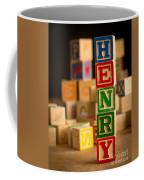 Henry - Alphabet Blocks Coffee Mug