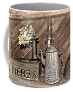 Herbs Bw Coffee Mug
