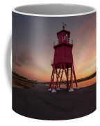 Herd Groyne Lighthouse On The Water S Coffee Mug