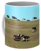 Herd Of Cows Grazing On A Hill, Point Coffee Mug