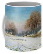 Herding Sheep In Wintertime Coffee Mug by Frank Hind
