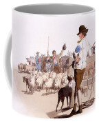 Herdsmen Of Sheep And Cattle, From The Coffee Mug by William Henry Pyne