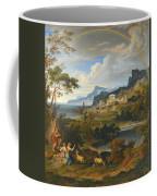 Heroic Landscape With Rainbow Coffee Mug