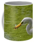 Heron And Dragonfly Coffee Mug