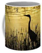 Heron At Sunrise Coffee Mug