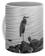 Heron In Black And White Coffee Mug