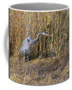 Heron In The Grass Coffee Mug