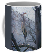 Heron Looking Out Coffee Mug
