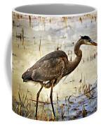 Heron On A Cloudy Day Coffee Mug