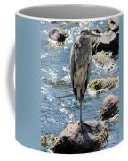 Heron On One Leg Coffee Mug