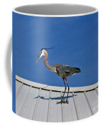 Heron On Rooftop Coffee Mug