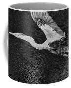 Heron On The Move Up Close Coffee Mug
