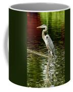 Heron On The Stick Coffee Mug