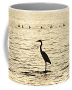 Heron Standing In Water Coffee Mug