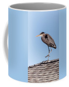 Heron Up On The Roof Coffee Mug