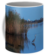Heron Watching The Sunset Coffee Mug