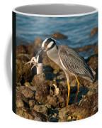 Heron With Crab Coffee Mug