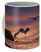 Herons At Sunset Coffee Mug