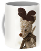 Herringbone Reindeer Coffee Mug by Anne Gilbert