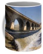 Hexham Bridge And Weir Coffee Mug
