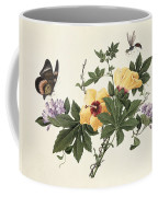Hibiscus And Butterfly Coffee Mug