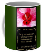 Hibiscus Closeup With Bible Quote From Song Of Songs Coffee Mug