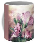 Hibiscus Sky - Pastel Pink Tones Coffee Mug