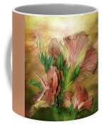 Hibiscus Sky - Peach And Yellow Tones Coffee Mug