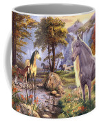 Hidden Images - Horses Coffee Mug by Steve Read