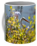 Hiding Egret Coffee Mug