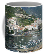 High Angle View Of A Town, Amalfi Coffee Mug