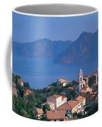 High Angle View Of A Town At The Coast Coffee Mug