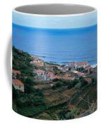 High Angle View Of Houses At A Coast Coffee Mug