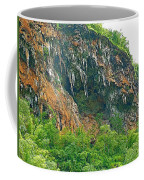 High Cliffs Along River Kwai In Kanchanaburi-thailand Coffee Mug