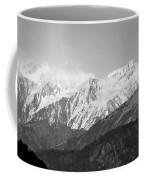 High Himalayas - Black And White Coffee Mug