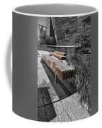 High Line Benches Black And White Coffee Mug