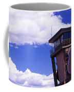 High Section View Of Railroad Tower Coffee Mug