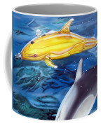High Tech Dolphins Coffee Mug by Thomas J Herring