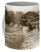 High Tide And Big Waves At Lovers Point Beach Pacific Grove California Circa 1907 Coffee Mug