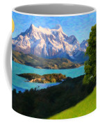 Highlands Of Chile  Lago Pehoe In Torres Del Paine Chile Coffee Mug