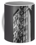 Highrise Fire Escape Bw Coffee Mug