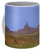 Highway 163 Leading Into Monument Valley With Rock Formations In Coffee Mug