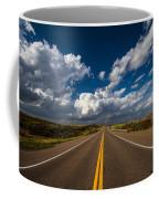 Highway Life - Blue Sky Down The Road In Oklahoma Coffee Mug