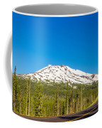 Highway Passing By Mountain Coffee Mug